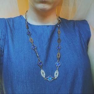 Jewelry - VINTAGE Blue Pendant Necklace